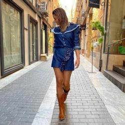 Estrenamos conjunto ?   Blusa NURIA   Falda ANNE   NUEVAS COLECCIONES que salen a la calle , ya en tienda y online   Www.NinetaMurcia.Com  #streetstyle #lamodaenlacalle
